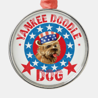 Patriotic Cairn Terrier Metal Ornament