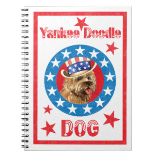 Patriotic Cairn Terrier Spiral Note Book