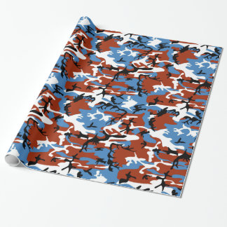 Patriotic Camo Wrapping Paper