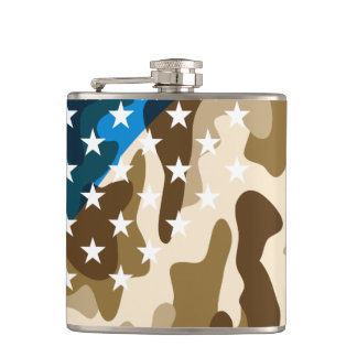 Patriotic camouflage pattern hip flask