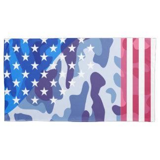 Patriotic camouflage pattern pillowcase