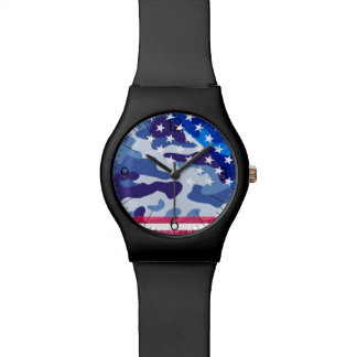Patriotic camouflage pattern watch