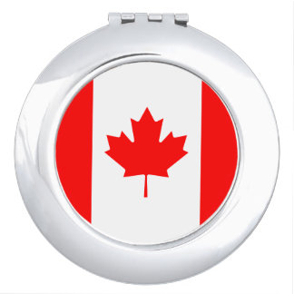 Patriotic Canadian Flag Compact Mirror