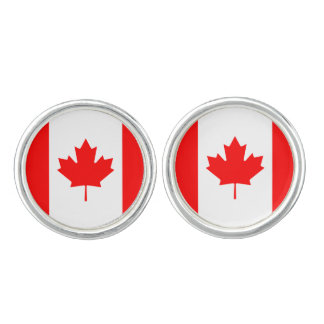 Patriotic Canadian Flag Cufflinks