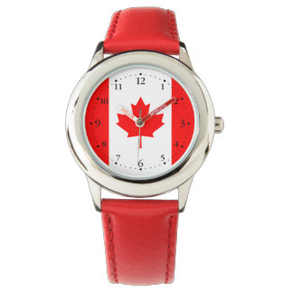 Patriotic Canadian Flag Watch