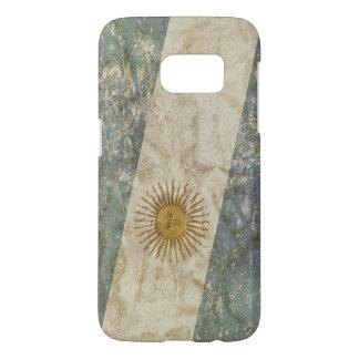 Patriotic case with flag of Argentina