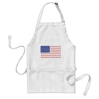 Patriotic Cat/USA Adult Apron