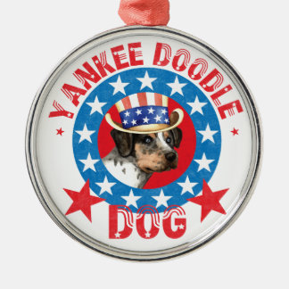 Patriotic Catahoula Metal Ornament