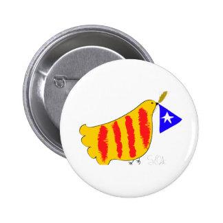 Patriotic Catalonia,  Catalunya  llibertat 6 Cm Round Badge
