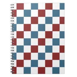 Patriotic Checker Pattern Journal