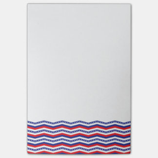 Patriotic Chevron Border Post-It Notes