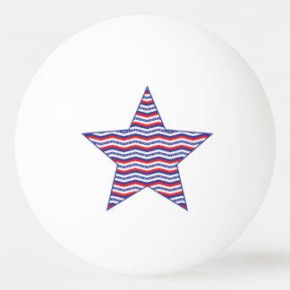 Patriotic Chevron Star Ping Pong Ball