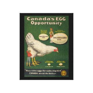 Patriotic Chicken Farm WW1 WW2 Canvas Print