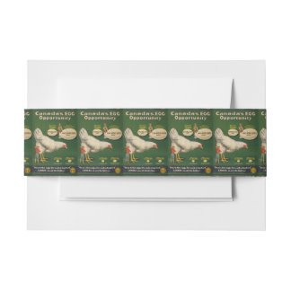 Patriotic Chicken Farm WW1 WW2 Invitation Belly Band