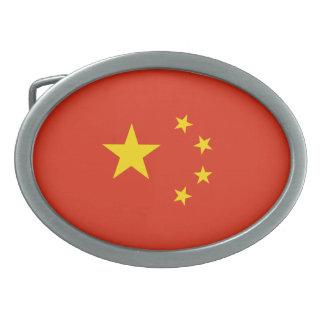 Patriotic Chinese Flag Belt Buckles