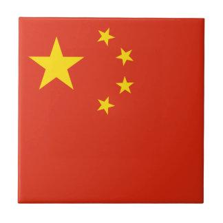 Patriotic Chinese Flag Ceramic Tile