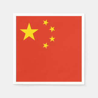 Patriotic Chinese Flag Disposable Napkins