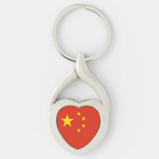 Patriotic Chinese Flag Key Ring