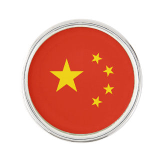 Patriotic Chinese Flag Lapel Pin
