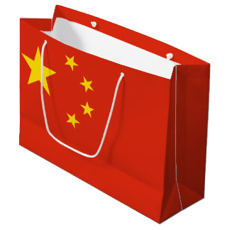 Patriotic Chinese Flag Large Gift Bag