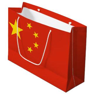 Patriotic Chinese Flag Large Gift Bag