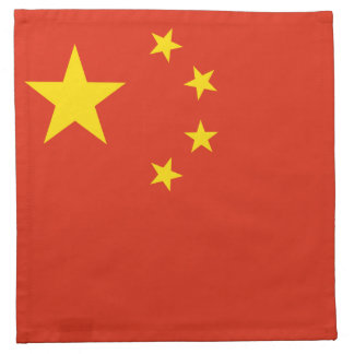 Patriotic Chinese Flag Napkin