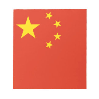 Patriotic Chinese Flag Notepad