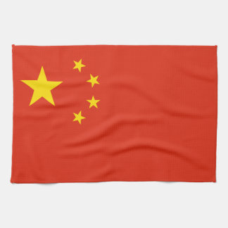 Patriotic Chinese Flag Tea Towel