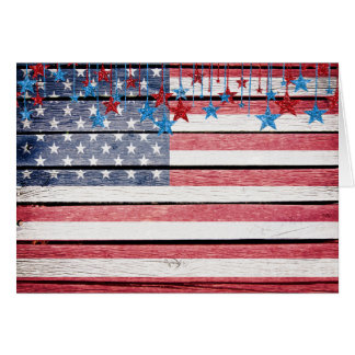 Patriotic / Christmas / Holiday American Flag Note Card