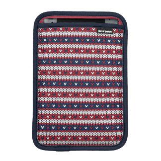 Patriotic Christmas Sweater Pattern iPad Mini Sleeve