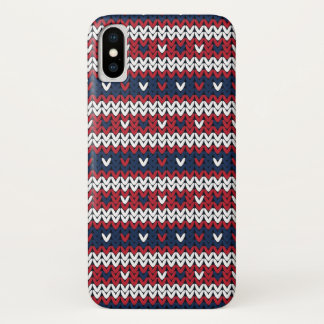 Patriotic Christmas Sweater Pattern iPhone X Case