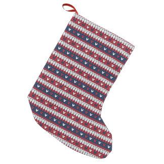 Patriotic Christmas Sweater Pattern Small Christmas Stocking