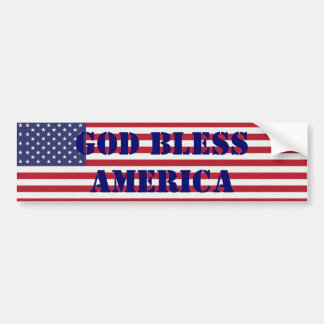 Patriotic Classic and powerful God Bless America Bumper Sticker