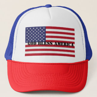 Patriotic Classic and powerful God Bless America Trucker Hat