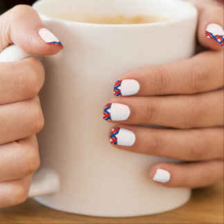 Patriotic Criss-Cross French Tip Nail Sticker