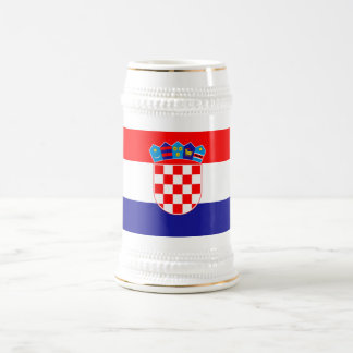 Patriotic Croatian Flag Beer Stein