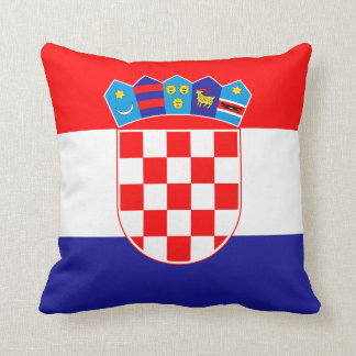 Patriotic Croatian Flag Cushion