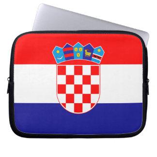 Patriotic Croatian Flag Laptop Sleeve