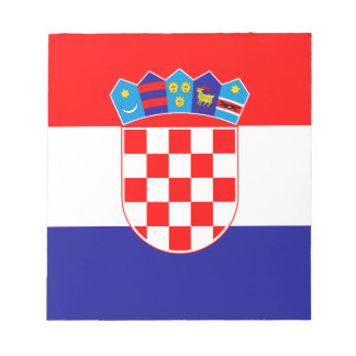 Patriotic Croatian Flag Notepad