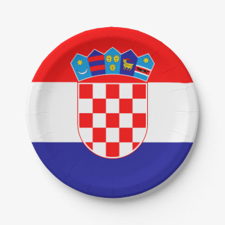 Patriotic Croatian Flag Paper Plate
