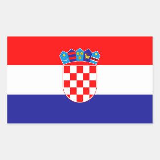 Patriotic Croatian Flag Rectangular Sticker