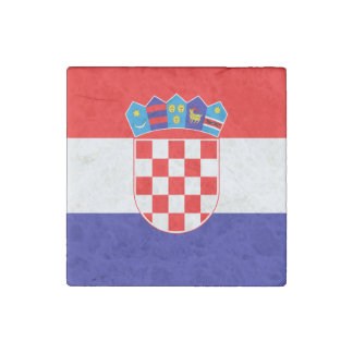 Patriotic Croatian Flag Stone Magnet