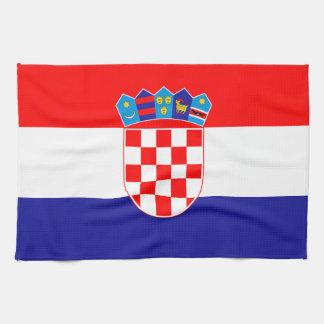 Patriotic Croatian Flag Tea Towel
