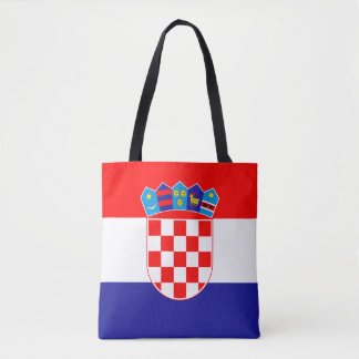 Patriotic Croatian Flag Tote Bag