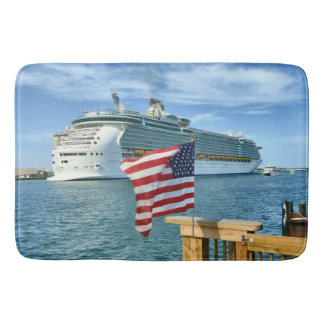 Patriotic Cruise Sailaway Bath Mats