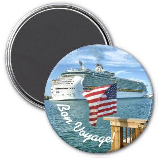 Patriotic Cruise Sailaway Bon Voyage Magnet