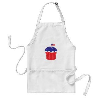 Patriotic Cupcake Adult Apron