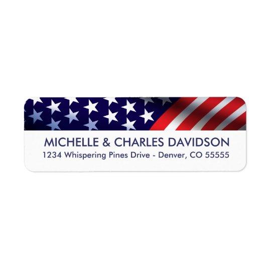 Patriotic Customised Return Address Labels