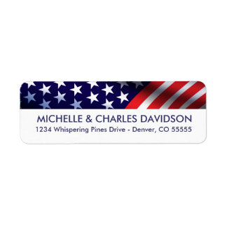 Patriotic Customized Return Address Labels