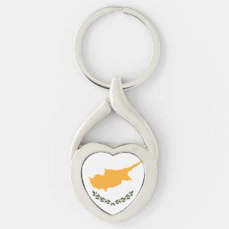 Patriotic Cyprus Flag Key Ring